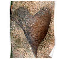 Pink Granite Heart Poster
