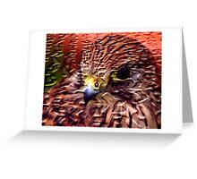 Craquelure Kestrel Greeting Card