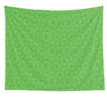 Grünes Netz Kaleidoscope/Green Kaleidoscope Net Wall Tapestry