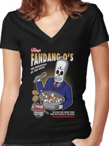 Rings Fandang-O's Cereals Women's Fitted V-Neck T-Shirt