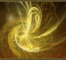 Moonlit Golden Fractal by AngelMist