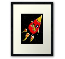 Rocket to the Moon Framed Print