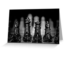 Chess 7: Watching the enemy lines Greeting Card