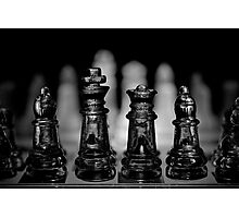 Chess 7: Watching the enemy lines Photographic Print