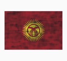 Distressed Kyrgyzstan Flag Kids Clothes