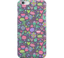 Macarons and flowers iPhone Case/Skin