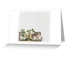 Savings and profits are composed with patience Greeting Card