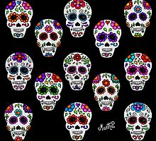 Martha´s mexican skulls (calacas) I by mmducoing