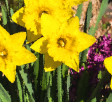 Sunny Daffodil Bouquet – Impressions Of Spring Sticker