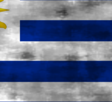 Distressed Uruguay Flag Sticker