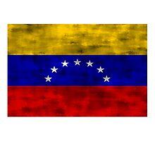 Distressed Venezuela Flag Photographic Print