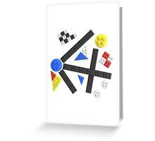 Kandinsky Toy Bricks Greeting Card