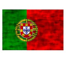 Distressed Portugal Flag Photographic Print