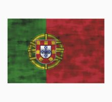Distressed Portugal Flag Kids Clothes