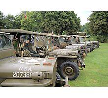 Jeep line up Photographic Print