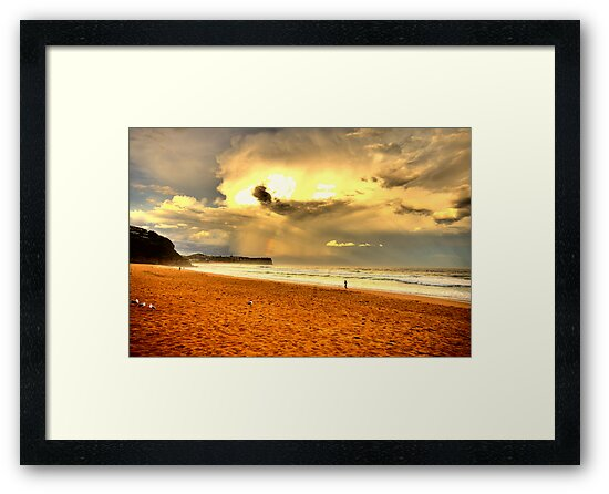 Loneliness - Warriewood Beach - The HDR Experience by Philip Johnson