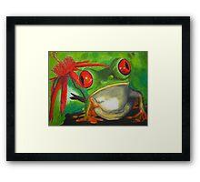 Red-eyed Tree frog Framed Print