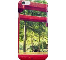Red swing iPhone Case/Skin