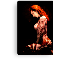 A very warm toned composite nude image Canvas Print