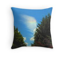 The Journey Begins - On an Angel's Wing Throw Pillow
