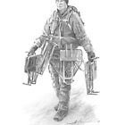Field scientist drawing 3 by Mike Theuer