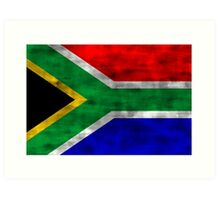 Distressed South Africa Flag Art Print