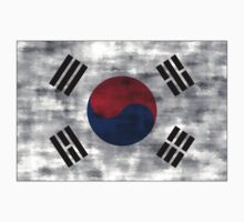 Distressed South Korea Flag Kids Clothes