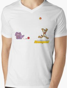 Housepets: Ball and Yarn Mens V-Neck T-Shirt