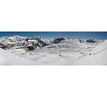 Off piste in Val d'Isere Photographic Print