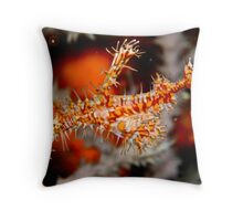 Ornate Ghost Pipe Fish Throw Pillow