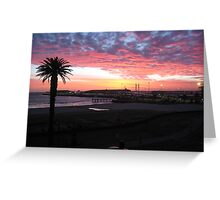 Port Melbourne Sunset over Cruise Terminal Greeting Card