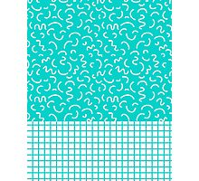 Hockney - Bright blue, memphis, 80s, 90s, swimming pool, summer turquoise design cell phone, phone  Photographic Print