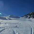 Hiking past ski tracks, Val d'Isere by Peak Photographics
