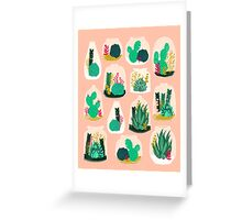 Terrariums - Cute little planters for succulents in repeat pattern by Andrea Lauren Greeting Card