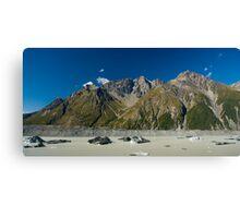 glacier lake panorama Canvas Print