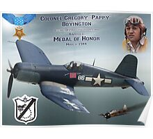 "Medal of Honor ""Pappy"" Boyington Poster"