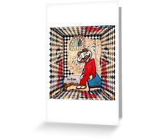 Pringle in Prison Greeting Card