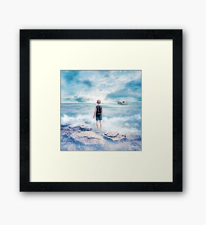 Waiting at the water's edge Framed Print