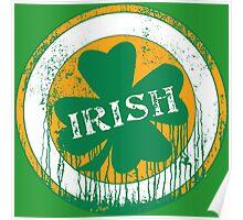 Dripping Irish Shamrock St. Patrick's Day Poster
