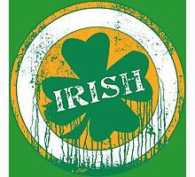 Dripping Irish Shamrock St. Patrick's Day Photographic Print
