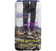 Zombie Apocalypse - get over the river Samsung Galaxy Case/Skin