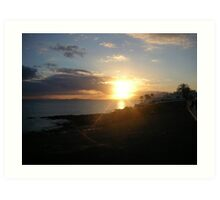 Sunset- Lanzarote - 2005 Art Print