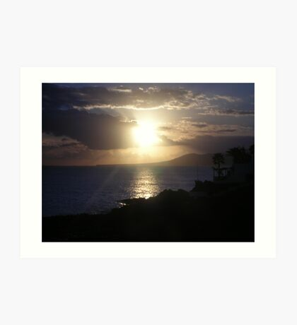 Sunset, Lanzarote Art Print
