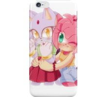Amy Rose & Blaze the Cat (Sonic the Hedgehog) iPhone Case/Skin