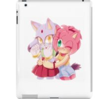 Amy Rose & Blaze the Cat (Sonic the Hedgehog) iPad Case/Skin