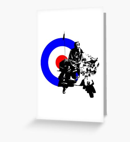 Mod and scooter Greeting Card