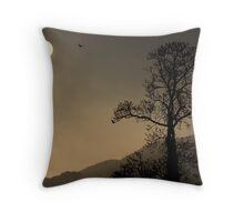 Icarus Sunrise Bird Throw Pillow