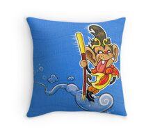 The Monkey King Throw Pillow