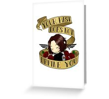bucky says forgive yourself Greeting Card