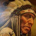 Native American Portrait by Maureen Bloesch